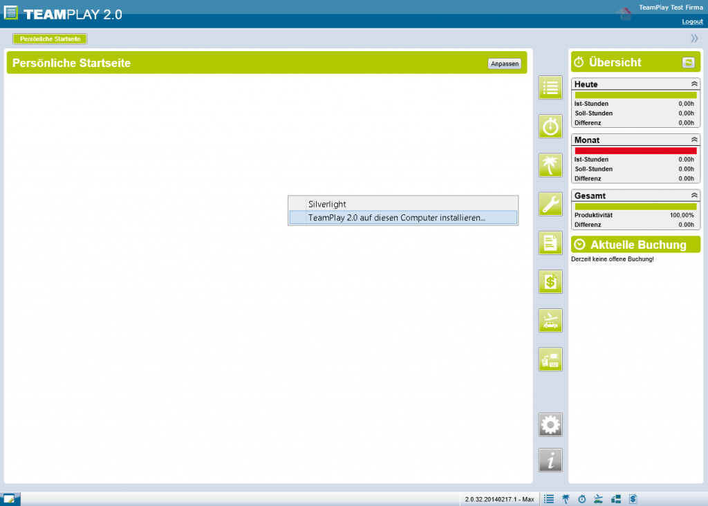 Screenshot Teamplay lokal installieren